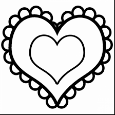 superb valentine heart clip art black and white with coloring