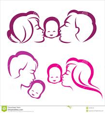 family silhouette stock vector illustration of relationship
