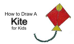 how to draw a kite for kids youtube
