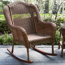 White Wicker Rocking Chair Outdoor Coral Coast Casco Bay Resin Wicker Rocking Chair With Cushion