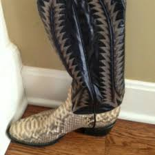 womens cowboy boots in size 11 78 tony lama shoes tony lama womens python cowboy boots