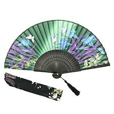 held folding fans omytea held silk folding fan with bamboo frame