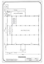 floor plan of mosque proposed plan of mosque first floor