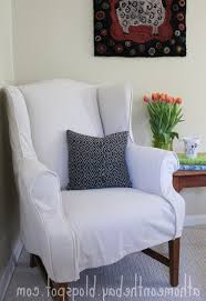 Queen Anne Wingback Chair Accessories Wingback Chair Cover Intended For Glorious Queen