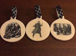 mystery playground sherlock tree illustration cutout ornaments