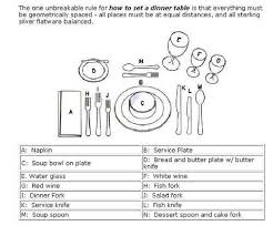 how to set a formal table oct 6 2011