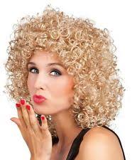 Ladies Dolly Parton Wig For 80s Perm Fancy Dress Accessory