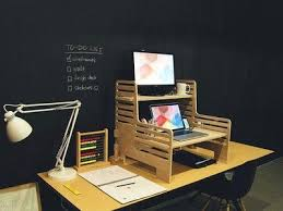 Stand Up Desk Exercises Convert Any Desk Into Stand Up Workstation With This Affordable