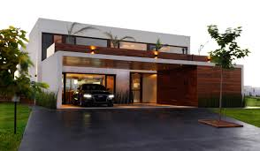 driveway garage entrance modern house buenos aires argentina