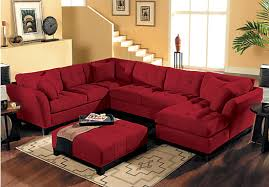 Red Sectional Sofas by Sofa Beds Design Simple Contemporary Cindy Crawford Sectional