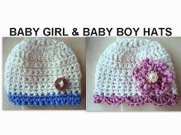 baby girl crochet baby girl and baby boy crochet hats how to diy