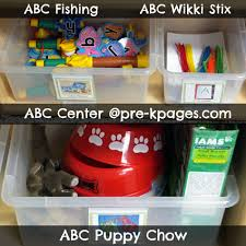 center ideas pre k literacy abc center alphabet preschool