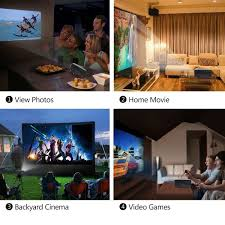perfect home theater vipith gm60 mini led video projector with 800 480p 1000 lumens