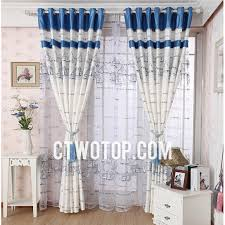 Nautical Window Curtains Ivory And Royal Blue Acoustical Elegant Unique Nautical Curtains