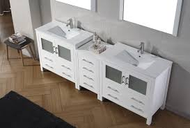 Virtu Bathroom Accessories by Virtu Usa Dior 90 Double Bathroom Vanity Set In White Bathtubs Plus