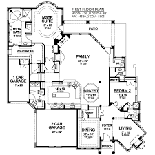 european house plan with 4 bedrooms and 4 5 baths plan 9006