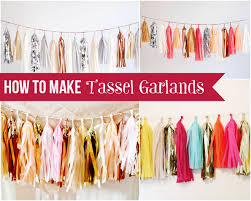 how to make a tassel garland easy step by step diy