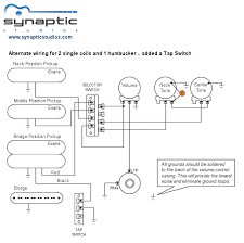 alternate 2 single coils u0026 1 humbucker wiring diagram