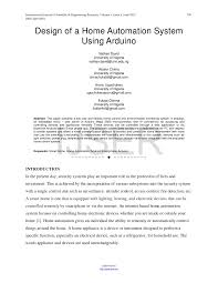 design of a home automation system using arduino pdf download