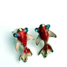 japan earrings shop koi fish earrings on wanelo