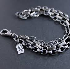 bracelet chain images Men 39 s heavy mixed chain silver bracelet lynn todd designs jpg
