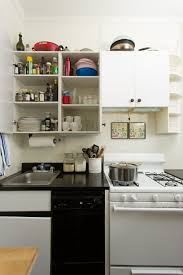 Kitchen Cabinets Open Shelving Design White Small Kitchen Cabinet With Open Shelves Black Glossy