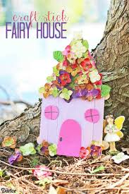 Craft Stick Ideas Kid U0027s Easy Fairy House Craft Darice