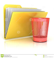 empty red recycle bin folder icon stock illustration image 56552532