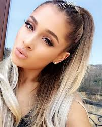 photos of arians hair ariana grande s birthday hair signature ponytail with a twist