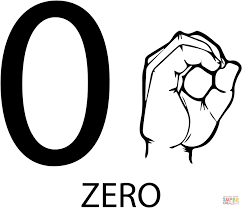 asl number zero coloring page free printable coloring pages