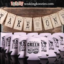 wedding koozie favors shop custom wedding koozies captivating wedding koozie favors