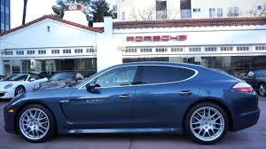blue porsche panamera panamera s yachting blue with mahogany wood trim beverly