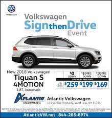 volkswagen lease costs atlantic volkswagen atlanticvw twitter