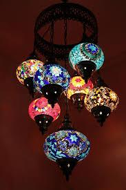 Turkish Chandelier Handmade Turkish 7 Of Mosaic Chandelier Large Globe Glass