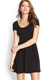 fit and flare dress forever 21 forever 21 cutout fit flare dress in black lyst