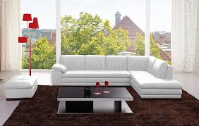 White Sectional Sofa 625 Sectional Sofa In White Italian Leather By J U0026m