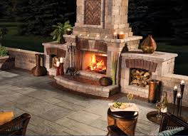 Patio Kitchen Design by Decor Astonishing Tuscany Unilock Fireplace For Outdoor Kitchen