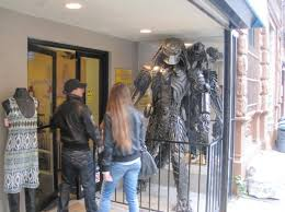 east clothing predator draws stares at east clothing store east