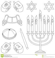coloring judaism elements stock photo image 11877410