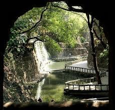 file waterfall at rock garden chandigarh jpg wikimedia commons