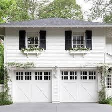 gray window shutters transitional garage