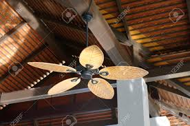 wooden fans tropical wooden colonial style ceiling fan stock photo picture