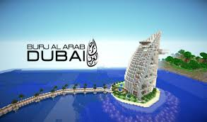 Burj Al Arab by Minecraft Dubai Hotel Burj Al Arab Youtube