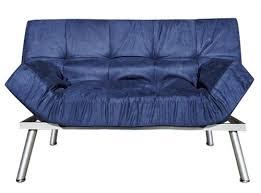 the college cozy sofa mini futon navy dorm furniture college
