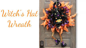Halloween Wreath Witch Legs Witch Hat Wreath Enhancement Youtube