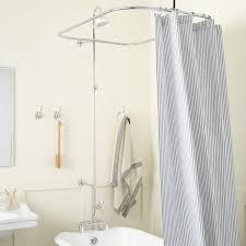 rim mount leg tub shower enclosure set with s type couplers rim mount leg tub shower enclosure set chrome