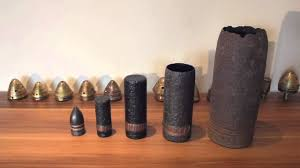 french 75mm ww1 57mm and 40mm artillery shells youtube