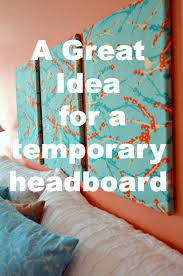Temporary Fabric Wallpaper by Quick And Easy Temporary Headboard Alternative Bedrooms And