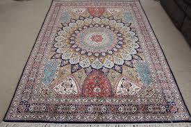 Silk Oriental Rugs 7x5 Gonbad Silk Persian Rugs Dome Design Gombad Carpet 1288