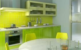 cuisine jaune et verte cuisines luminaire cuisine encastre idée originale couleur jaune